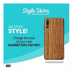 Huawei P20/P20 Pro Style Skins Zebrawood Acrylic Flyer (8.5x11)